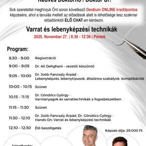 Varrat és lebenyképzési technikák - Dentium akadémia online kurzus