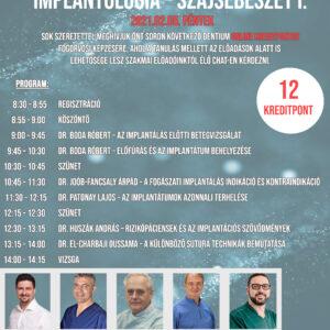 Implantológia – Szájsebészet I. - Programfüzet