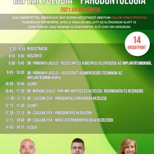 Implantológia-Parodontológia Online fogorvosi képzés 20201. Április 9.