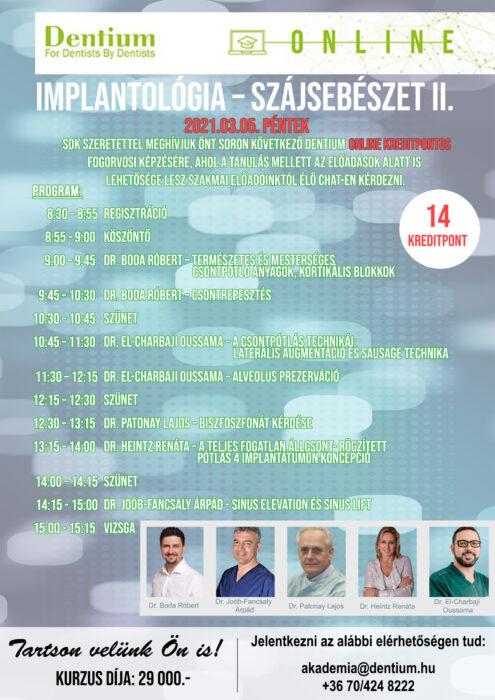 Implantológia – Szájsebészet II. - Programfüzet