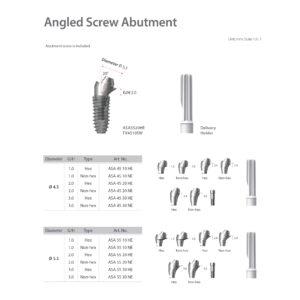 Szögtörött csavaros felépítmény / Angled Screw Abutment