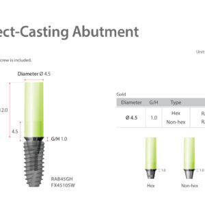 Direkt lenyomati felépítmény / Direct-Casting Abutment