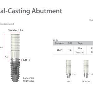 Fém lenyomati felépítmény / Metal-Casting Abutment