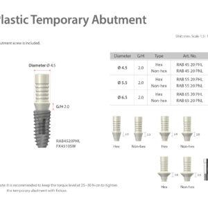 Plasztik ideiglenes lenyomati felépítmény / Plastic Temporary Abutment