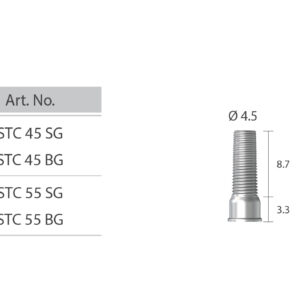 Titán ideiglenes cilinder csavaros felépítményhez / Ti-Temporary Cylinder