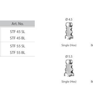 Csavaros felépítmény lenyomatvételi műcsonk (zárt kanalas) / Screw Abutment Impression Coping Transfer